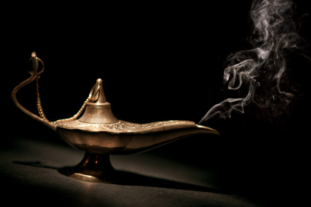 if i had a magical lamp A guy and girl stumble upon a magic lamp,  (presumably the original genie was from the home dimension of the djinn, to which the lamp had a link.
