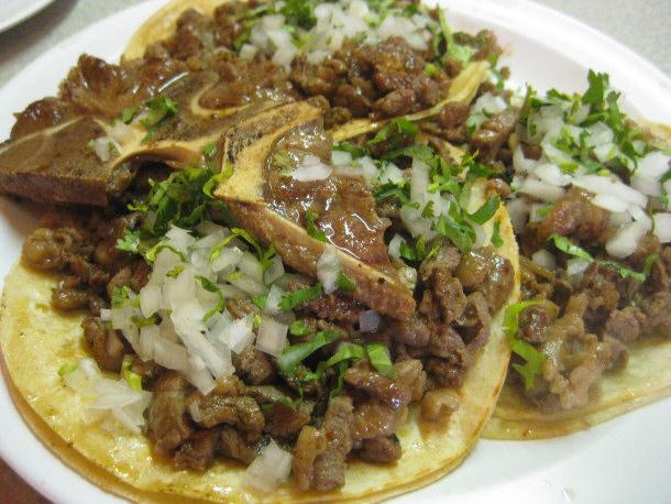Tacos de Lengua (Beef Tongue):