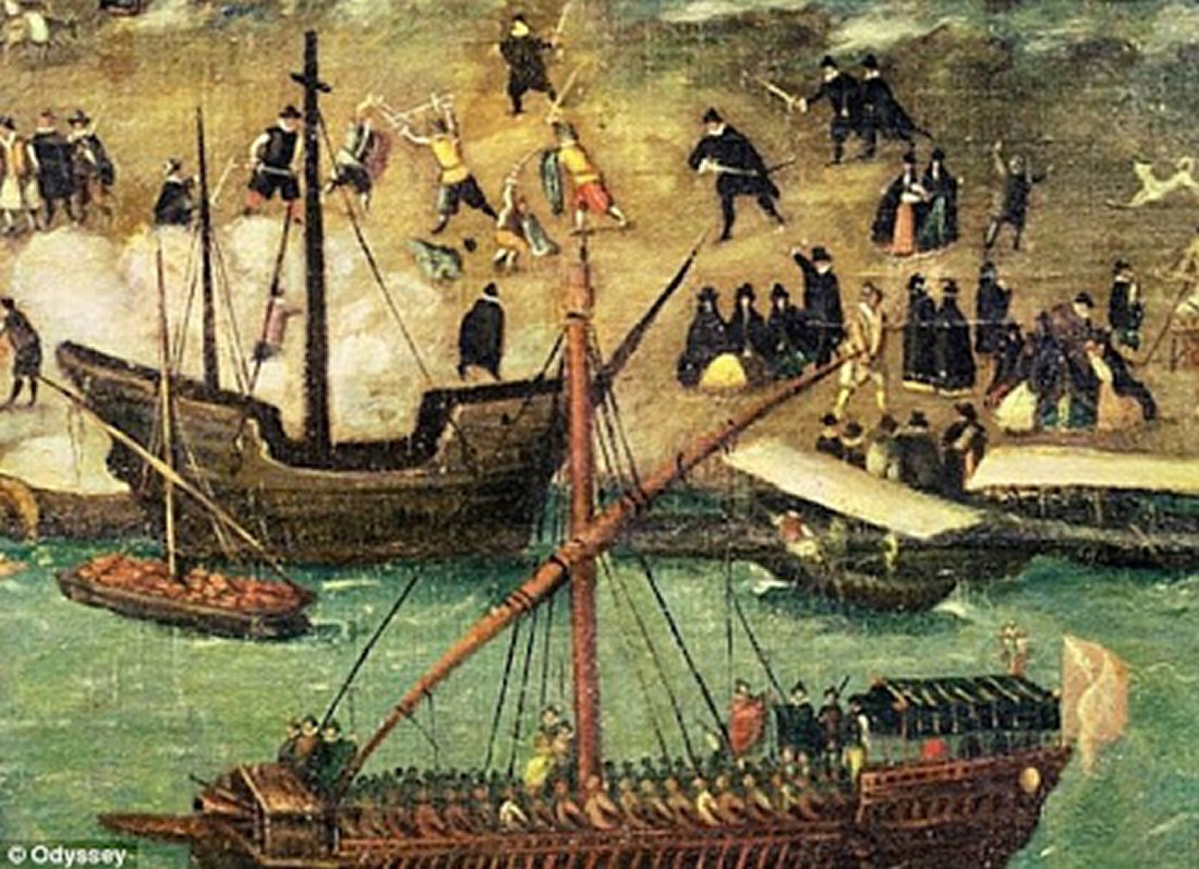"an analysis of the 16th century spanish attack on the coast of mexico Make a note of which interpretation you think is best before starting the  during  the early sixteenth century, spanish conquistadors (""conquerors"")  in 1519  cortés led about 450 men to mexico and made his way from veracruz on the gulf  coast  and the aztecs claimed that cortés 's second in command attacked  priests,."