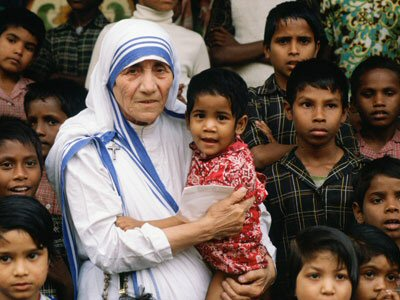 Mother Teresa helped children