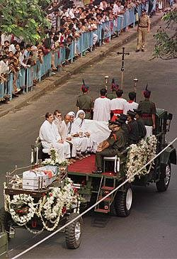Mother Teresa received a state funeral in India for her work