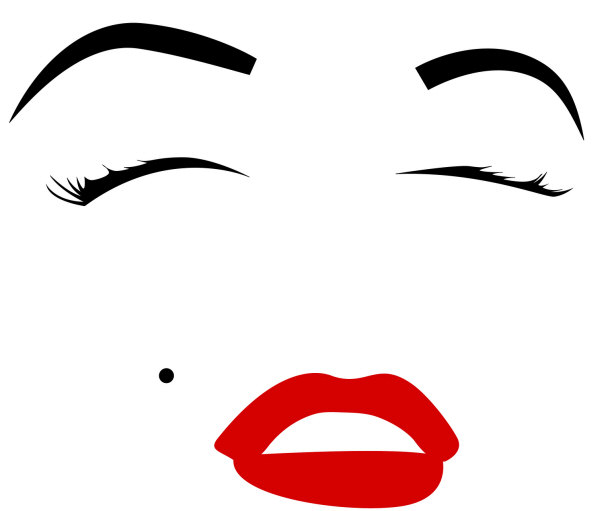 Marilyn Monroe Face Silhouette Tattoo Marilyn monroe