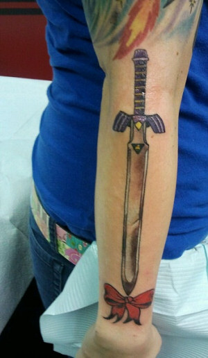 Traditional American Sword Tattoo