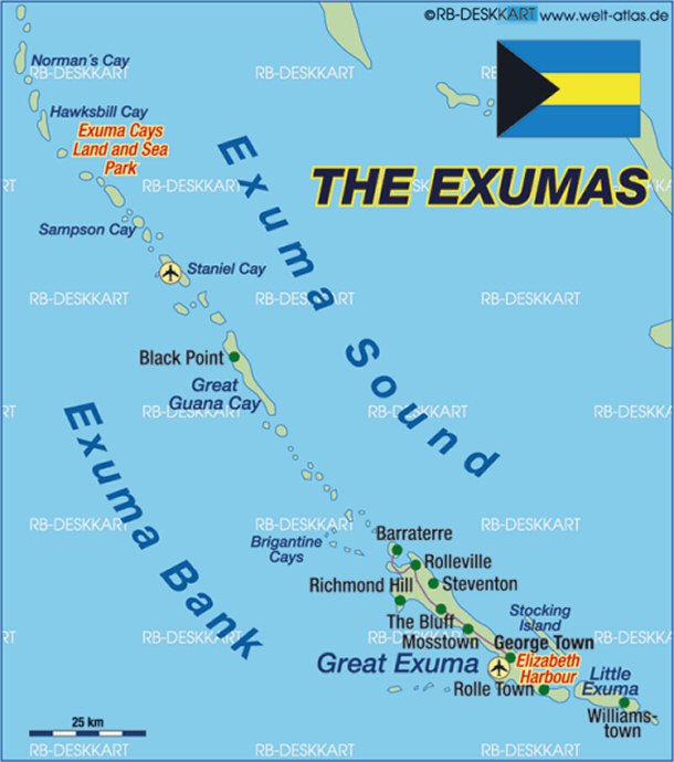 Top 15 Interesting Places to Visit in the Bahamas – Bahamas Tourist Attractions Map