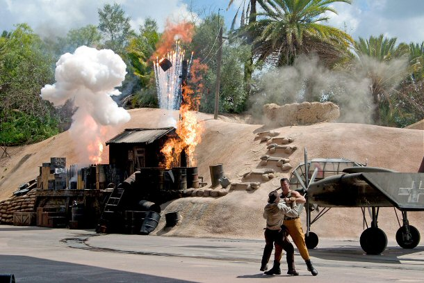 The indiana jones epic stunt spectacular show is a 35 minute thrilling