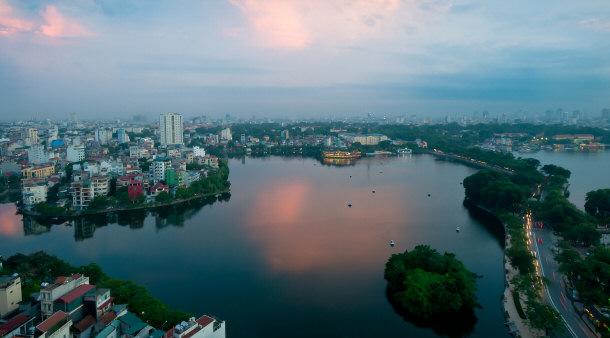 Hanoi Vietnam skyline